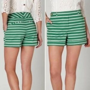 Anthropologie Meadow Rue Shorts Size 0 Green White